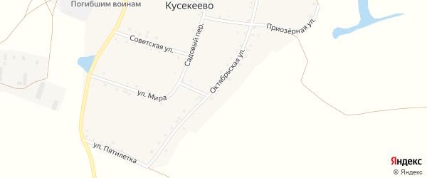 Октябрьская улица на карте села Кусекеево с номерами домов