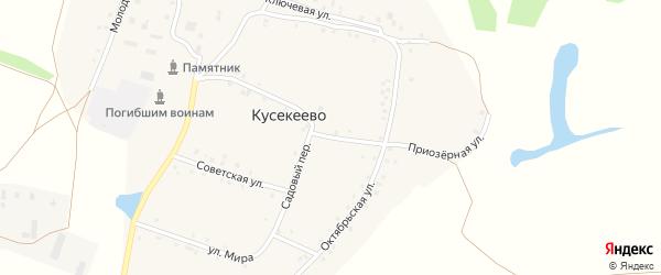 Садовый переулок на карте села Кусекеево с номерами домов