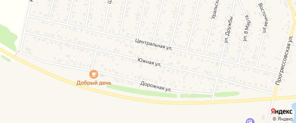 Южная улица на карте села Тарабердино с номерами домов
