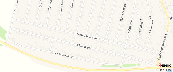 Центральная улица на карте села Тарабердино с номерами домов