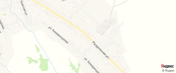 Раздольная улица на карте села Кушнаренково с номерами домов