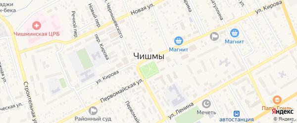 Западная улица на карте поселка Чишмы с номерами домов