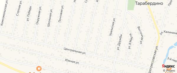 Интернациональная улица на карте села Тарабердино с номерами домов