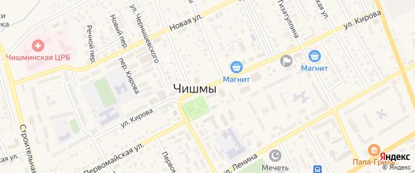 Улица Кирова на карте поселка Чишмы с номерами домов