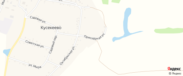 Приозерная улица на карте села Кусекеево с номерами домов