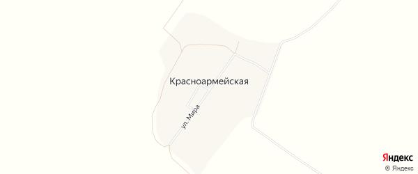 Карта Красноармейской деревни в Башкортостане с улицами и номерами домов