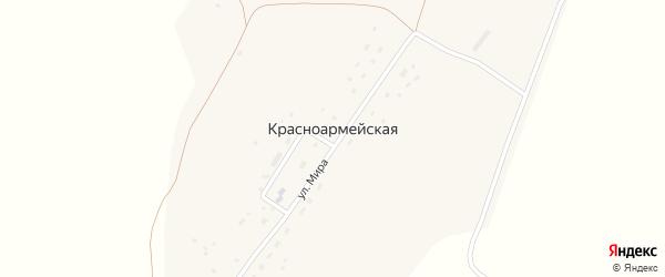 Улица Мира на карте Красноармейской деревни с номерами домов