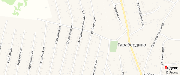 Улица Свободы на карте села Тарабердино с номерами домов