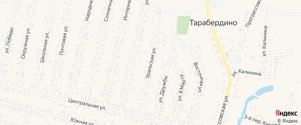 Уральская улица на карте села Тарабердино с номерами домов