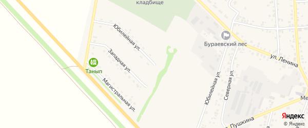 Юбилейная улица на карте села Бураево с номерами домов