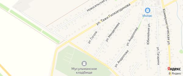 Улица Гоголя на карте села Бураево с номерами домов
