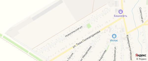 Новосельская улица на карте села Бураево с номерами домов