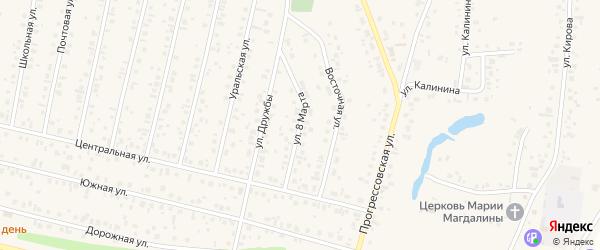 Улица 8 Марта на карте села Тарабердино с номерами домов
