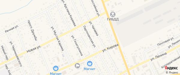 Партизанская улица на карте Уфы с номерами домов