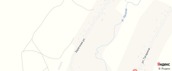 Заречная улица на карте деревни Боголюбовки с номерами домов