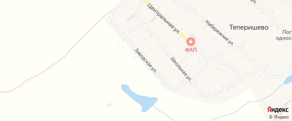 Заводская улица на карте села Теперишево с номерами домов