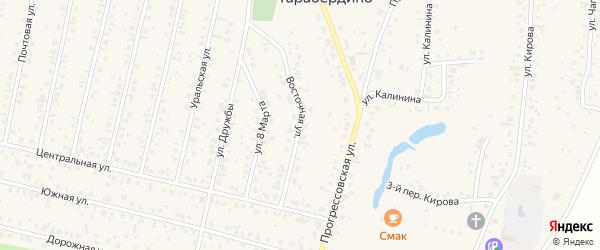 Восточная улица на карте села Тарабердино с номерами домов