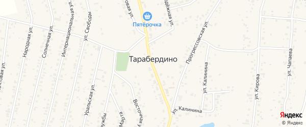 Народная улица на карте села Тарабердино с номерами домов