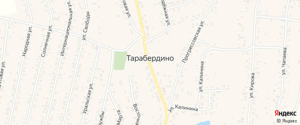 Кирова 3-й переулок на карте села Тарабердино с номерами домов