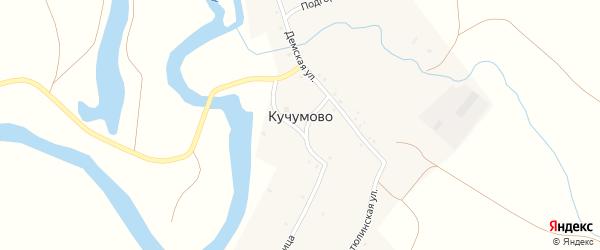 Подгорная улица на карте деревни Кучумово с номерами домов