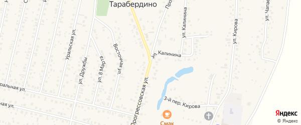 Прогрессовская улица на карте села Тарабердино с номерами домов