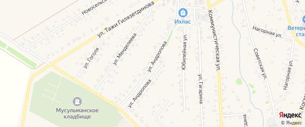 Улица Андропова на карте села Бураево с номерами домов