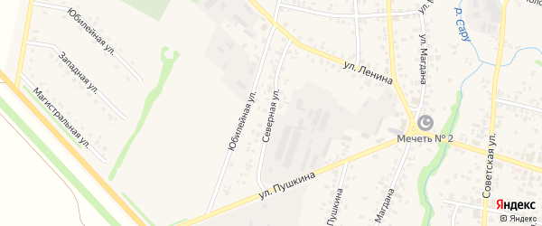 Северная улица на карте села Бураево с номерами домов