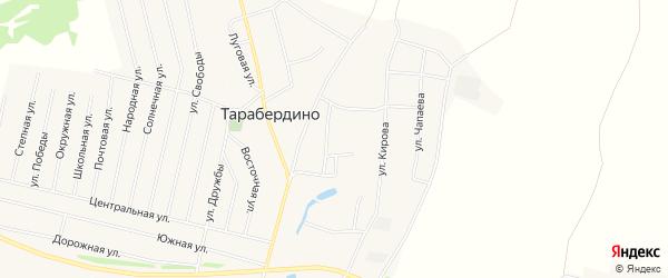 Карта села Тарабердино в Башкортостане с улицами и номерами домов