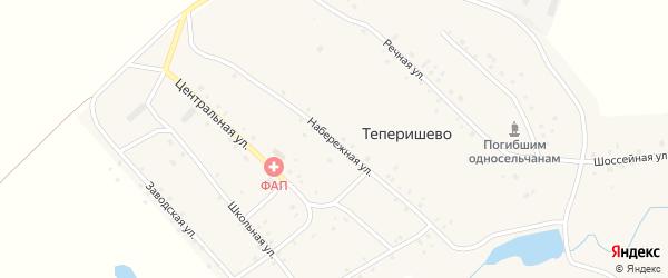 Набережная улица на карте села Теперишево с номерами домов