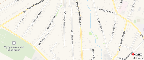 Улица Гагарина на карте села Бураево с номерами домов
