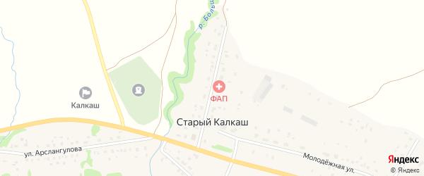 Карамалинская улица на карте деревни Старого Калкаша с номерами домов