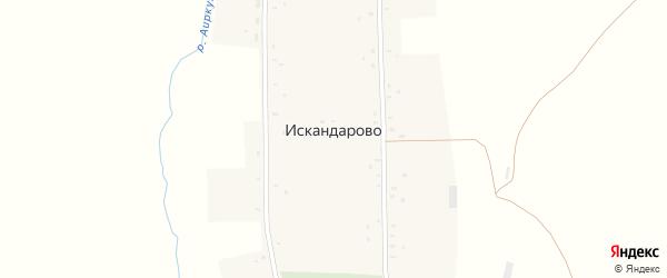 Верхняя улица на карте села Искандарово с номерами домов