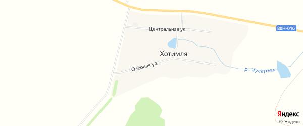 Карта деревни Хотимли в Башкортостане с улицами и номерами домов