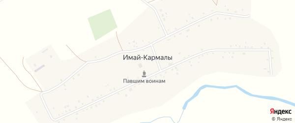 Молодежная улица на карте села Имая-Кармалы с номерами домов