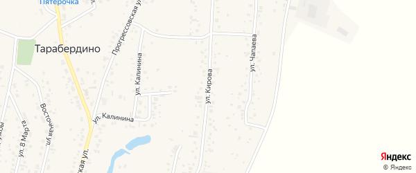 Улица Кирова на карте села Тарабердино с номерами домов