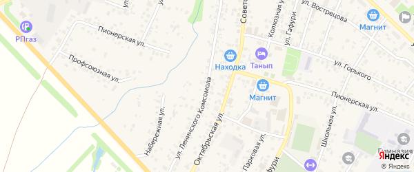 Улица Ленинского Комсомола на карте села Бураево с номерами домов