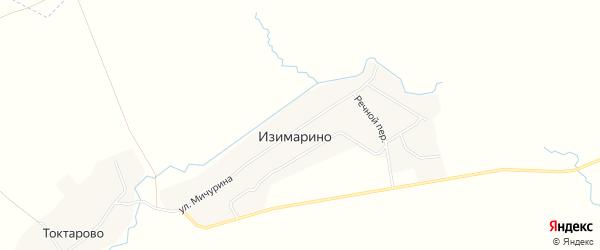 Карта деревни Изимарино в Башкортостане с улицами и номерами домов