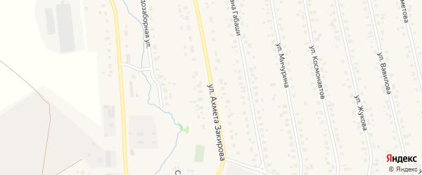 Улица А.Закирова на карте села Бураево с номерами домов