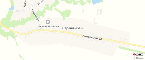 Заречная улица на карте села Сараштыбаша с номерами домов