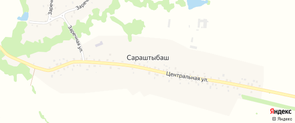 Центральная улица на карте села Сараштыбаша с номерами домов