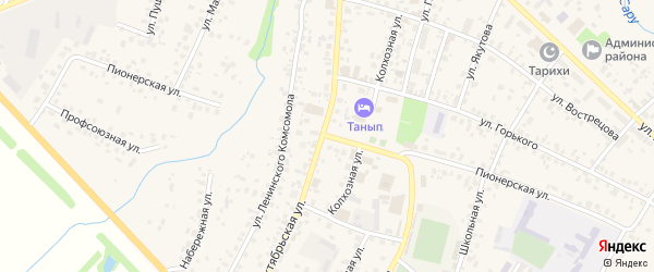 Пионерская улица на карте села Бураево с номерами домов