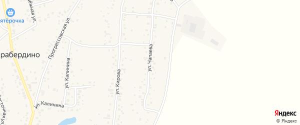 Улица Чапаева на карте села Тарабердино с номерами домов