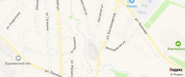Советская улица на карте села Бураево с номерами домов