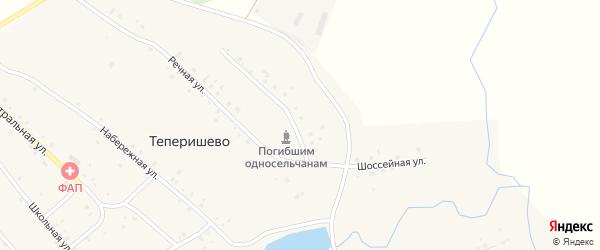 Шоссейная улица на карте села Теперишево с номерами домов