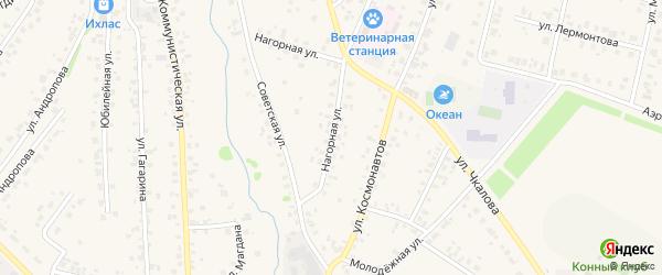 Нагорная улица на карте села Бураево с номерами домов