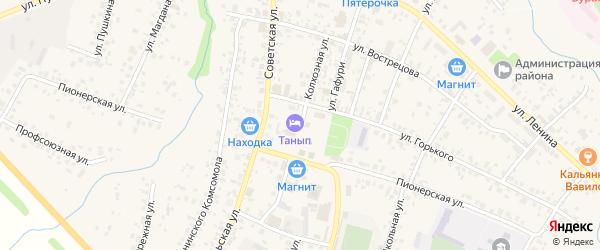 Колхозная улица на карте села Бураево с номерами домов