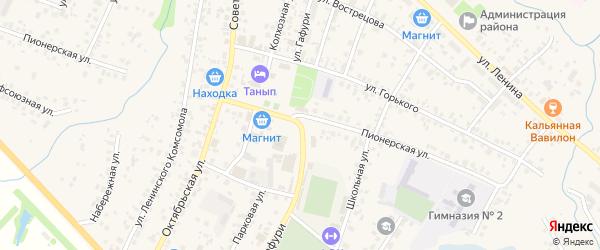 Улица М.Гафури на карте села Бураево с номерами домов