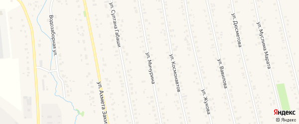 Улица Мичурина на карте села Бураево с номерами домов