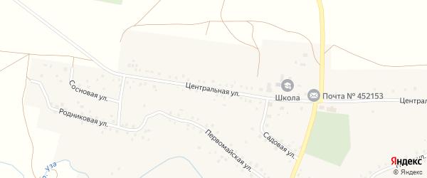 Центральная улица на карте села Арсланово с номерами домов