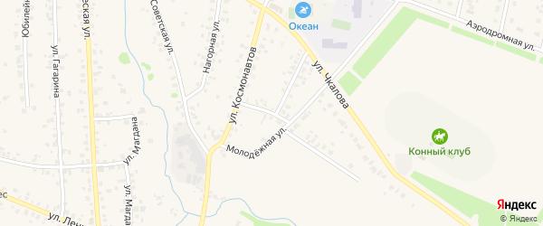 Молодежная улица на карте села Бураево с номерами домов